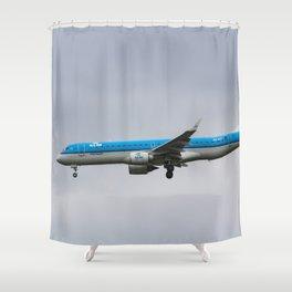 KlM Embraer 190 Shower Curtain