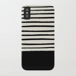Black x Stripes iPhone Case