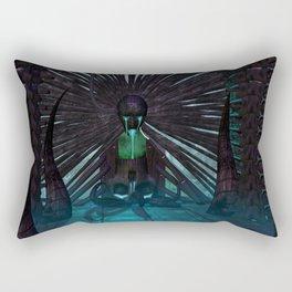 H.R. Giger Tribute - Skull Fountain Rectangular Pillow