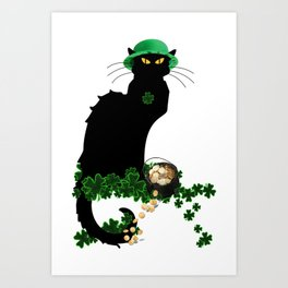 Le Chat Noir - St Patrick's Day Art Print
