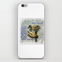 Don't worry, God cares for the birds, bible verses iPhone Skin