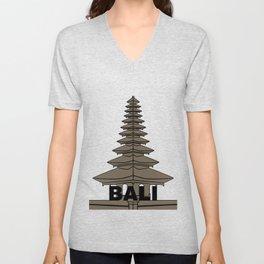 Pura Ulun Danu Bratan Bali Unisex V-Neck