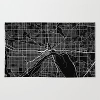 minnesota Area & Throw Rugs featuring saint paul map minnesota by Line Line Lines