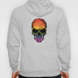 Dark Skull with Gay Pride Rainbow Flag Hoody