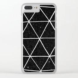 Dark Geodesic Clear iPhone Case