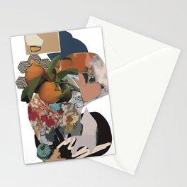 orange y mu olive Stationery Cards
