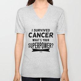 Fuck Cancer thyroid cancer sick Unisex V-Neck