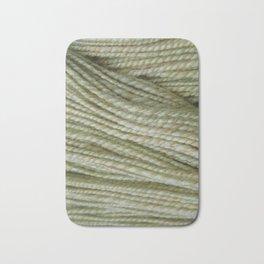 Yellow, light green handspun yarn Bath Mat