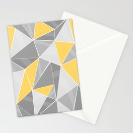 Pattern, grey - yellow Stationery Cards