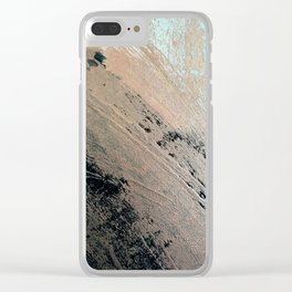 Landslide: a pretty, minimal abstract piece in pink, and blues Clear iPhone Case