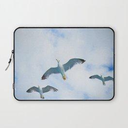 Three Sea Gulls Flying Oil Painting Laptop Sleeve