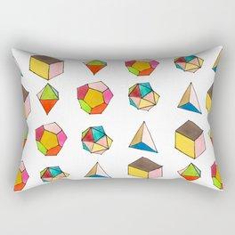 Platonic Solids Rectangular Pillow