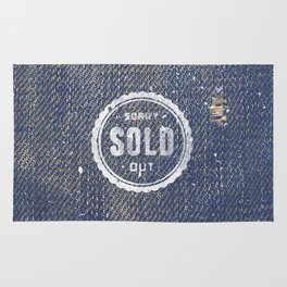 Blue Denim Jeans Texture Cool Fashion Fabric Print Rug