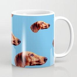 Dachshunds on My Mind in Blue Coffee Mug