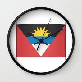 Flag of Antigua and Barbuda.  The slit in the paper with shadows.  Wall Clock