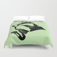 badger Duvet Covers featuring Badger Saxophone by mailboxdisco