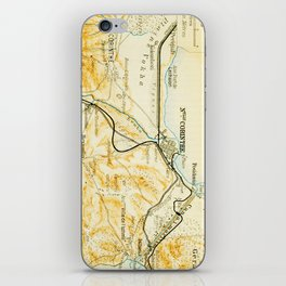 Vintage Map of Corinth Greece (1894) iPhone Skin
