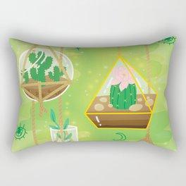 Cacti Terrariums Rectangular Pillow