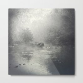 fog and light on the river Metal Print