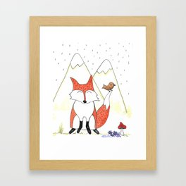 Hello Mr Fox! Framed Art Print