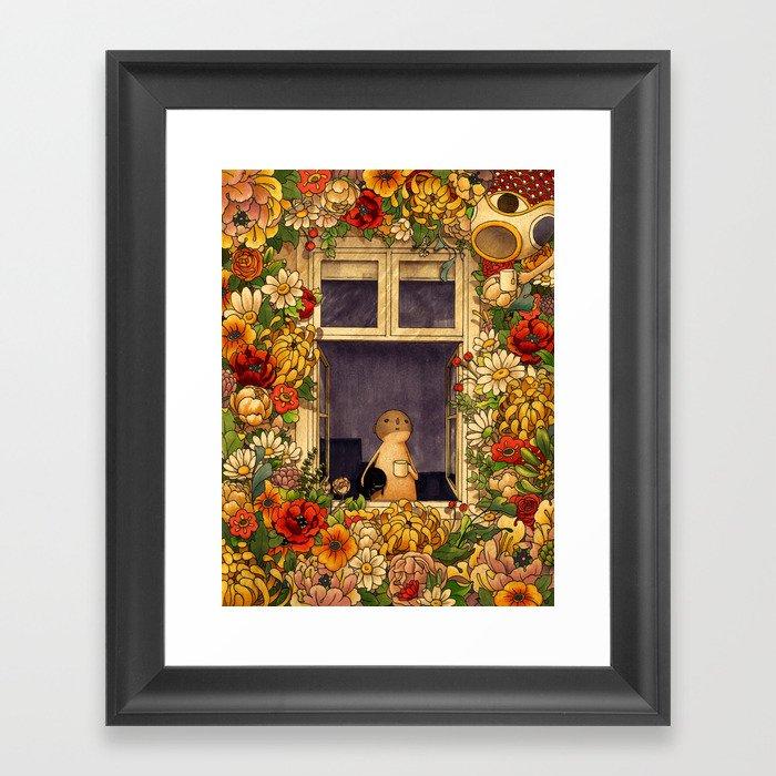 Flower Garden Gerahmter Kunstdruck