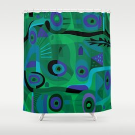 Cabins in the Sea Shower Curtain