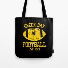 Green Bay Football Fan Gift Present Idea Tote Bag