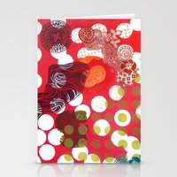 polka dot Stationery Cards featuring Polka-Dot by Liz Belen