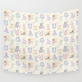 Teddy Bear Alphabet ABC's Wall Tapestry