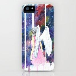 Angel Under Shooting Stars iPhone Case