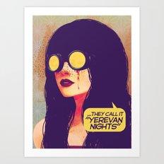 yerevan nights Art Print