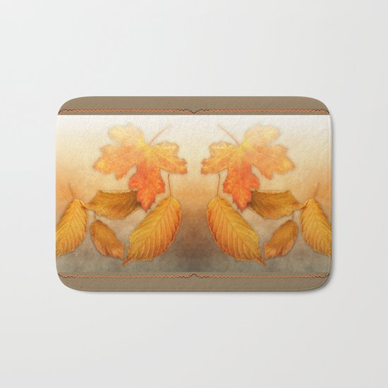 Autumn leaves in yellow and orange Bath Mat