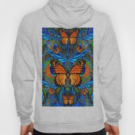 """FOR THE LOVE OF MONARCHS & BLUE PEACOCKS"" Hoody"