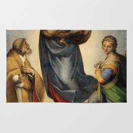 The Sistine Madonna Oil Painting by Raphael Rug