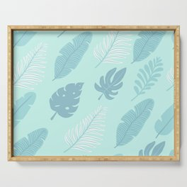 Tropical Foliage Serving Tray