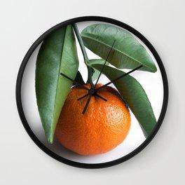 Orange Fruit Photography Wall Clock
