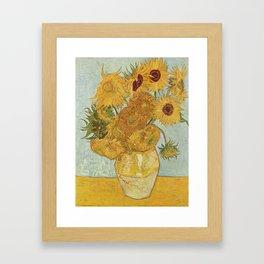 Vincent van Gogh's Sunflowers Framed Art Print