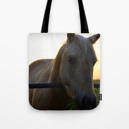 Beautiful Horse at Sunset Tote Bag