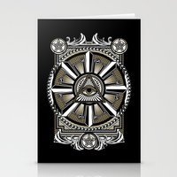 all seeing eye Stationery Cards featuring All Seeing Eye by Pancho the Macho