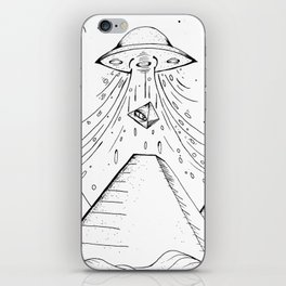 UFO Pyramid Capture iPhone Skin