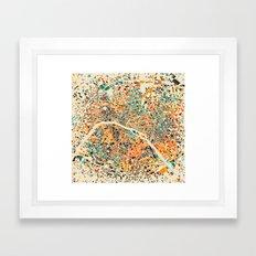 Paris mosaic map #3 Framed Art Print
