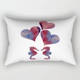 Seahorse Art Rectangular Pillow