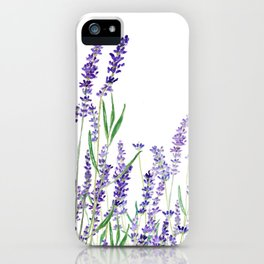 lavender watercolor horizontal iPhone Case