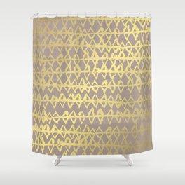 Golden Ornament Shower Curtain