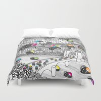 germany Duvet Covers featuring Locals Only - Heidelberg, Germany by Heiko Windisch