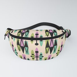 Mid Century Modern Atomic Triangles 338 Fanny Pack