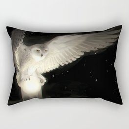 Animal Snowy Owl Birds Owls Artistic Fantasy Owl Rectangular Pillow