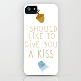 """Kisses - Quote from """"Peter Pan"""" iPhone Case"""