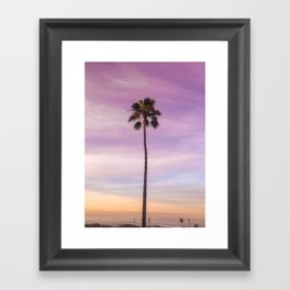 Sunset Palm in Southern California Framed Art Print
