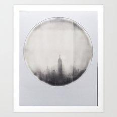 empire state building polaroid Art Print